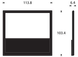 Afmetingen beovision 10-46 inch