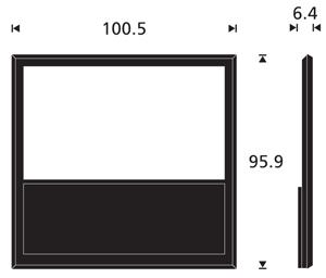 Afmetingen Beovision 10-40 inch